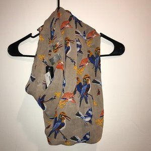 D&Y Accessories - D&Y Infinity Fashion Scarf NWT Birds Butterfly